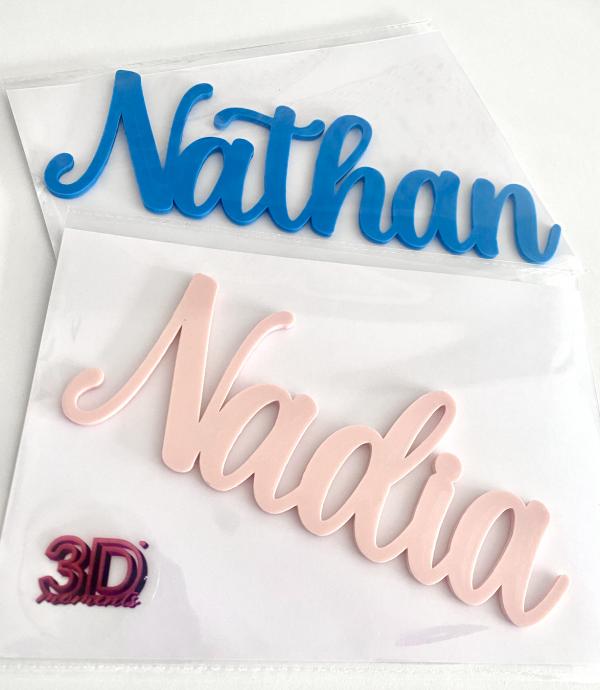 Nathan And Nadia Custom Name Signs