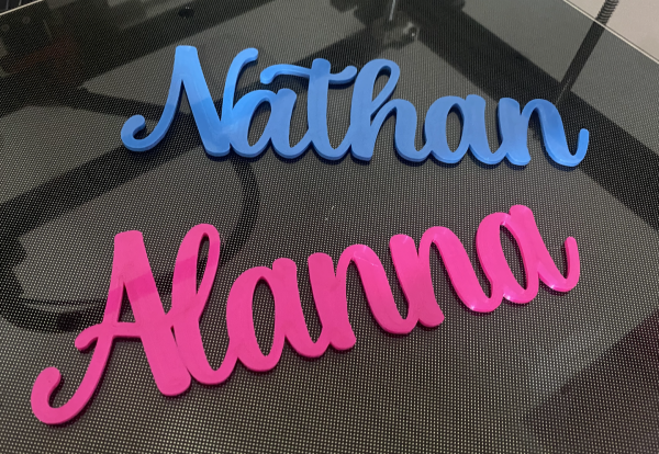 Custom 3D name signs